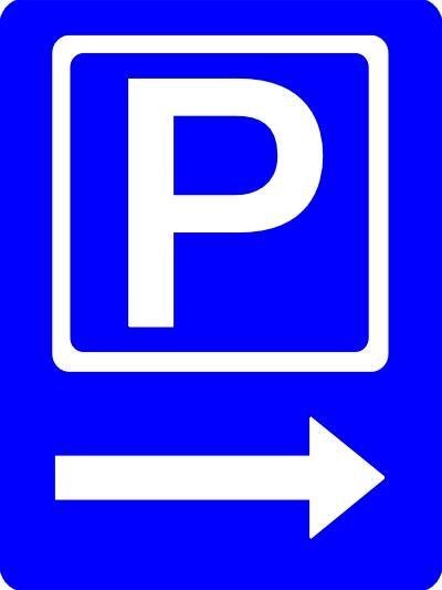 shop handicap p skilt p.